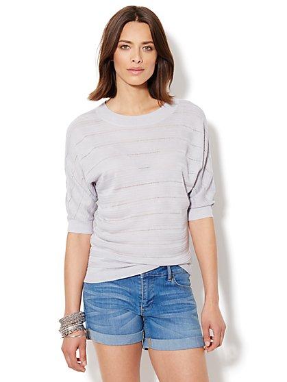 Pointelle Scoopneck Sweater