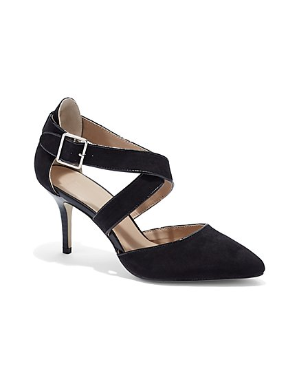 Pointy-Toe Strappy Pump - New York & Company