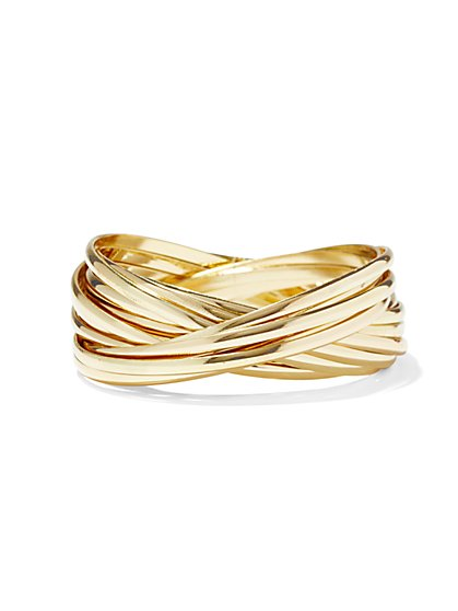 Polished Bangle Set  - New York & Company