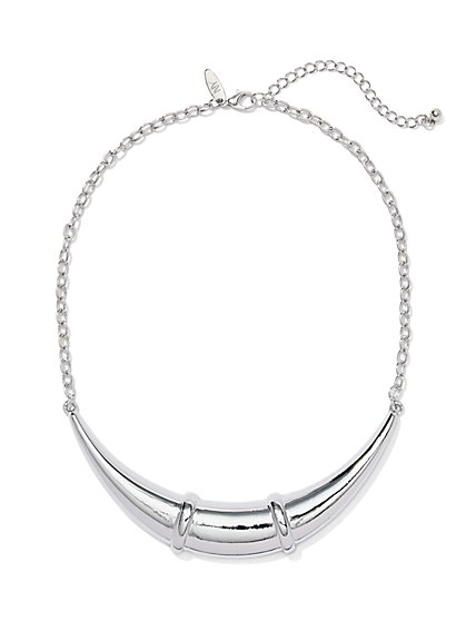 Polished Bar Collar Necklace  - New York & Company