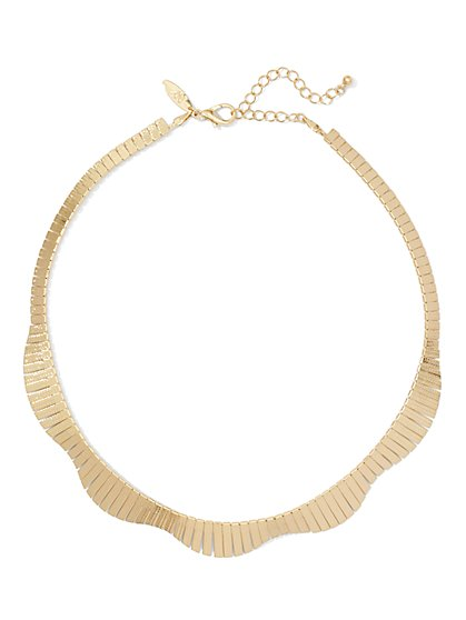 Polished Bar Necklace  - New York & Company
