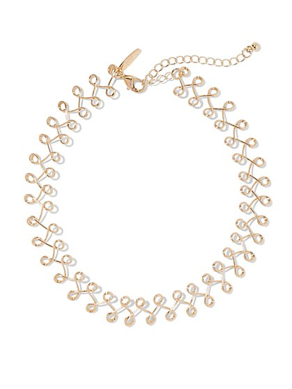 Polished Choker Necklace  - New York & Company