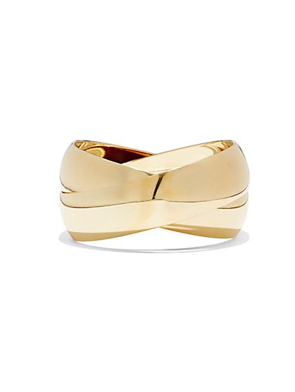 Polished Crisscross Bangle  - New York & Company