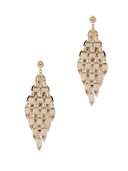 Polished Geo Drop Earring  - New York & Company