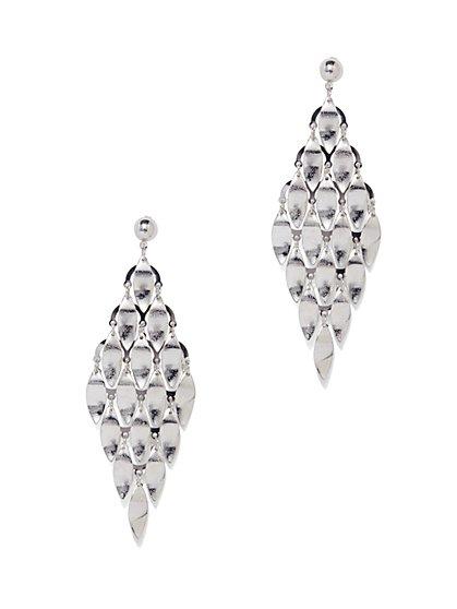Polished Geo Drop Earring  - New York & Company