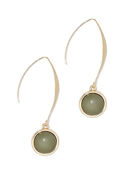 Polished Goldtone Drop Earring  - New York & Company