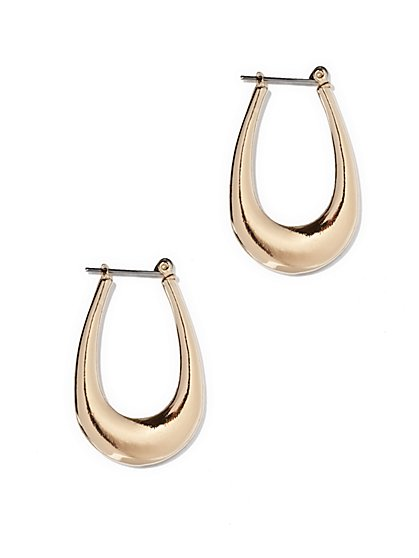 Polished Goldtone Hoop Earring  - New York & Company