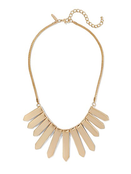 Polished Goldtone Statement Necklace  - New York & Company