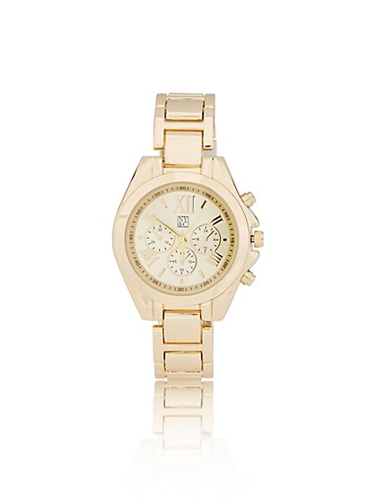 Polished Link Watch  - New York & Company