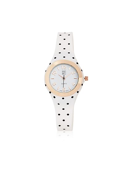 Polka-Dot Band Watch  - New York & Company