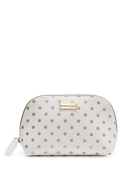 Polka-Dot Cosmetic Case  - New York & Company