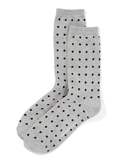 Polka-Dot Crew Sock  - New York & Company