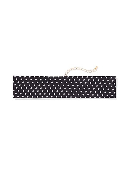 Polka-Dot Print Choker Necklace  - New York & Company