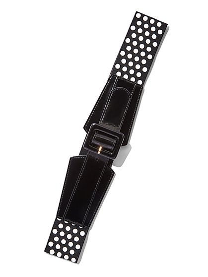 Polka-Dot Stretch Belt  - New York & Company