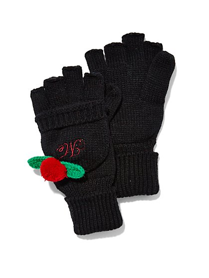 Pom-Pom Flip-Top Gloves  - New York & Company