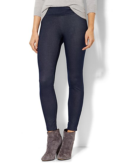 Ponte Legging - Indigo Blue Wash  - New York & Company