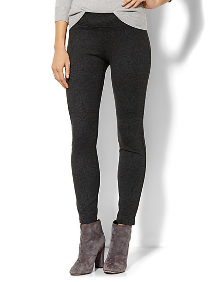 Ponte Legging - Medium Heather Grey  - New York & Company