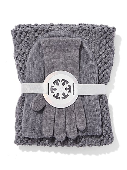 Popcorn Scarf, Hat & Gloves Gift Set - New York & Company