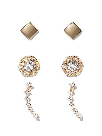 Post & Ear Climber Earring Set  - New York & Company