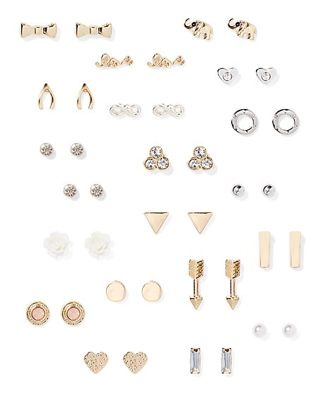 Post Earring Set - 20 Pairs  - New York & Company