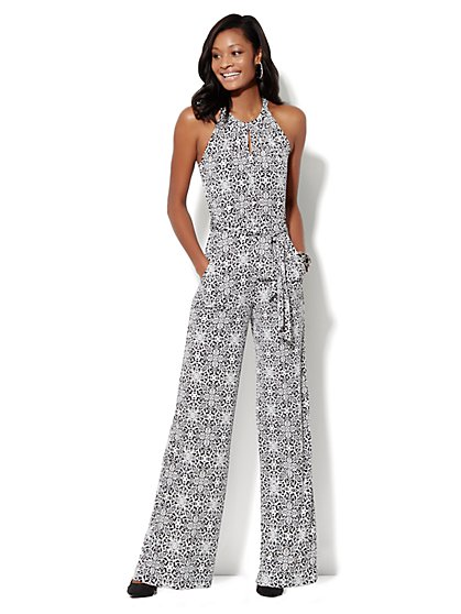 Printed Halter Jumpsuit  - New York & Company