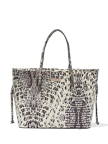 Printed Union Square Tote - New York & Company