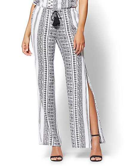 Pull-On Palazzo Pant - Paisley Print - New York & Company