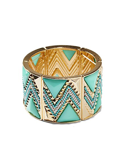 Pyramid Cuff Bracelet  - New York & Company