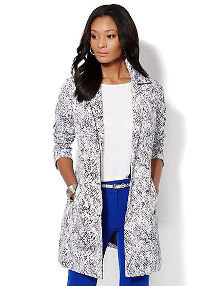 Python-Print Coat  - New York & Company