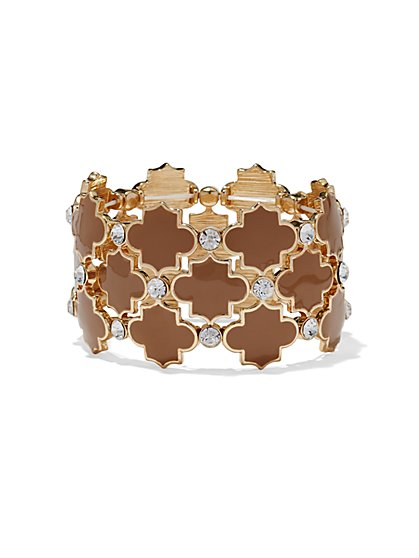 Quatrefoil Stretch Bracelet - New York & Company