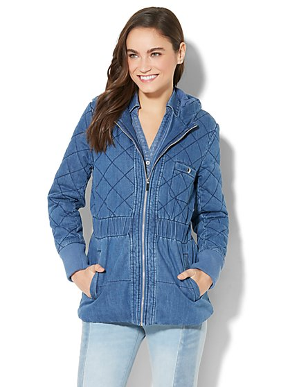 Quilted Denim Jacket - New York & Company