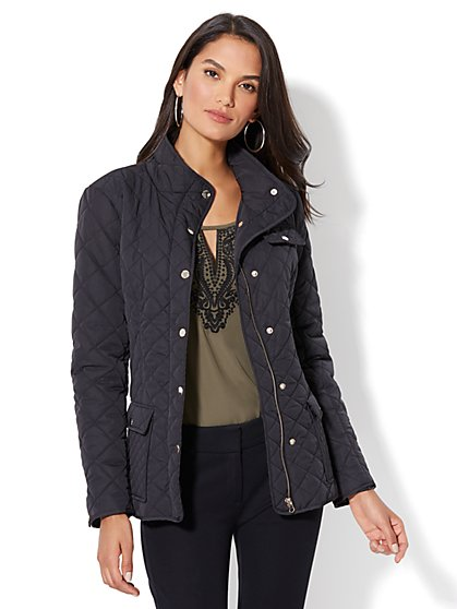 Quilted Flap-Pocket Jacket - New York & Company