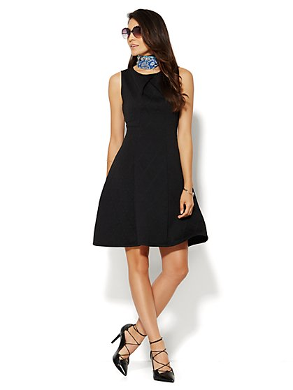 Quilted Flare Dress  - New York & Company