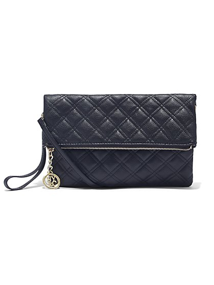 Quilted Foldover Clutch  - New York & Company