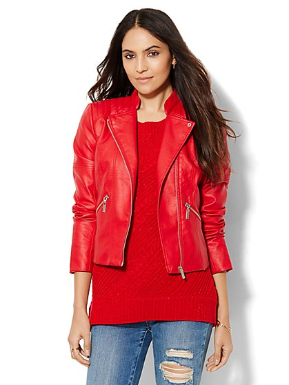 Quilted Moto Jacket  - New York & Company