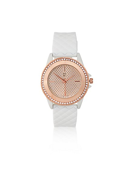 Quilted Pavé Watch  - New York & Company