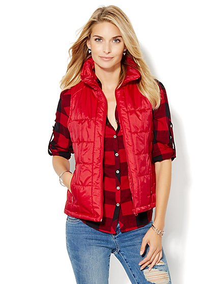 Quilted Puffer Vest  - New York & Company