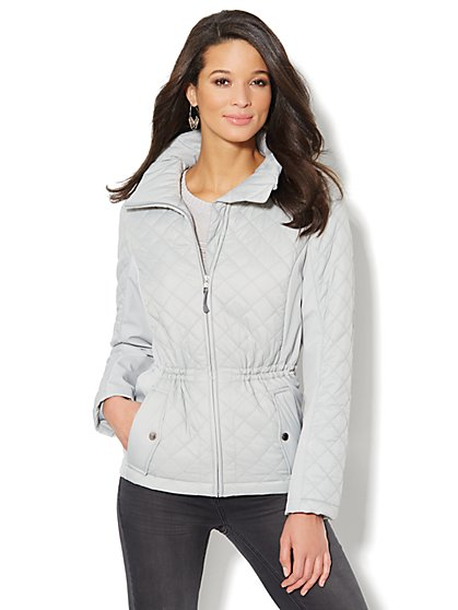 Quilted Side-Panel Jacket - New York & Company