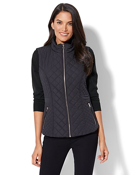 Quilted Zip-Up Vest - New York & Company