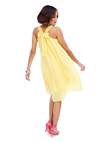 Racerback Bow Dress  - New York & Company