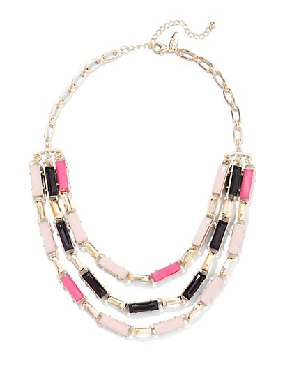 Rectangular Faux-Stone Necklace  - New York & Company