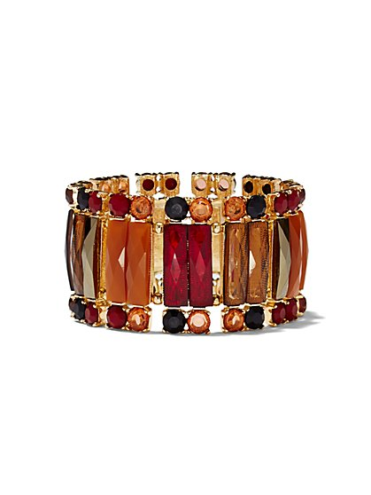 Rectangular Faux-Stone Stretch Bracelet  - New York & Company