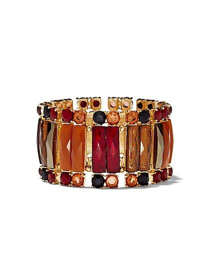 Rectangular Faux-Stone Stretch Bracelet  - New York & Company
