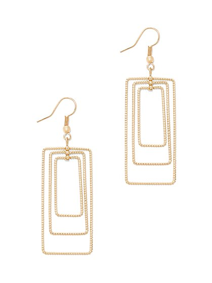 Rectangular Hoop Drop Earring  - New York & Company