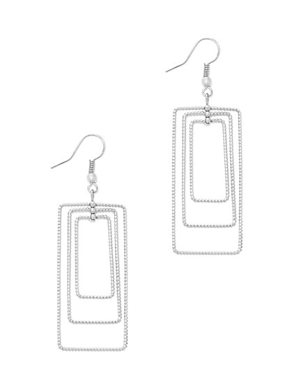 Rectangular Hoop Drop Earring  - New York & Company