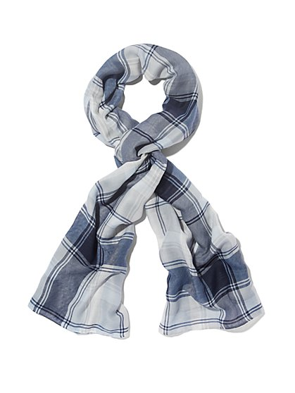 Rectangular Scarf - Plaid  - New York & Company