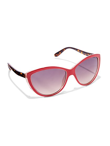 Red Cat-Eye Sunglasses  - New York & Company