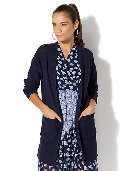 Relaxed Boyfriend Cardigan - New York & Company