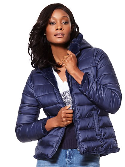 Reversible Puffer Jacket - New York & Company