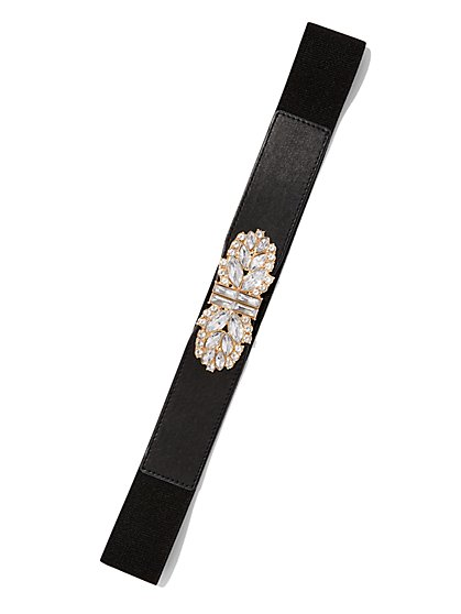 Rhinestone Buckle Belt  - New York & Company